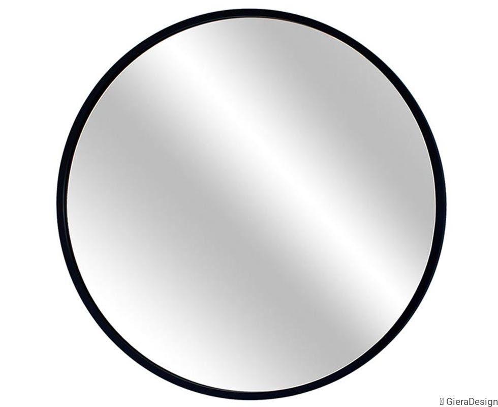 Okrągłe Lustro łazienkowe W Cienkiej Czarnej Ramie Scandi