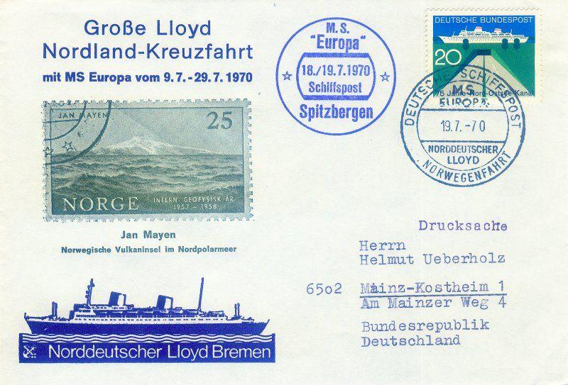 NDL Norddeutscher Lloyd Bremen. Buque Europa (1953)   Compañías ...