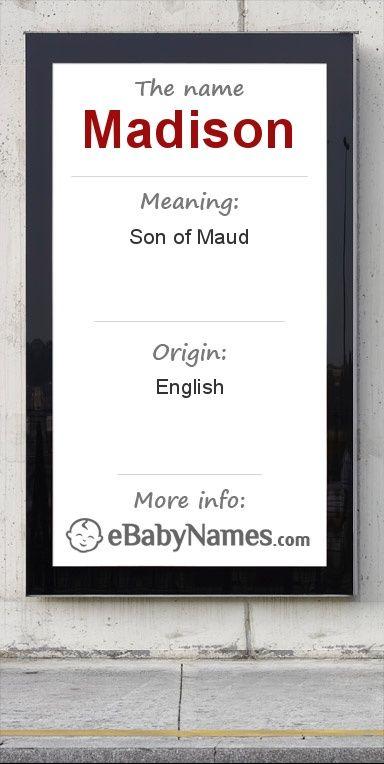 Greek meaning madison