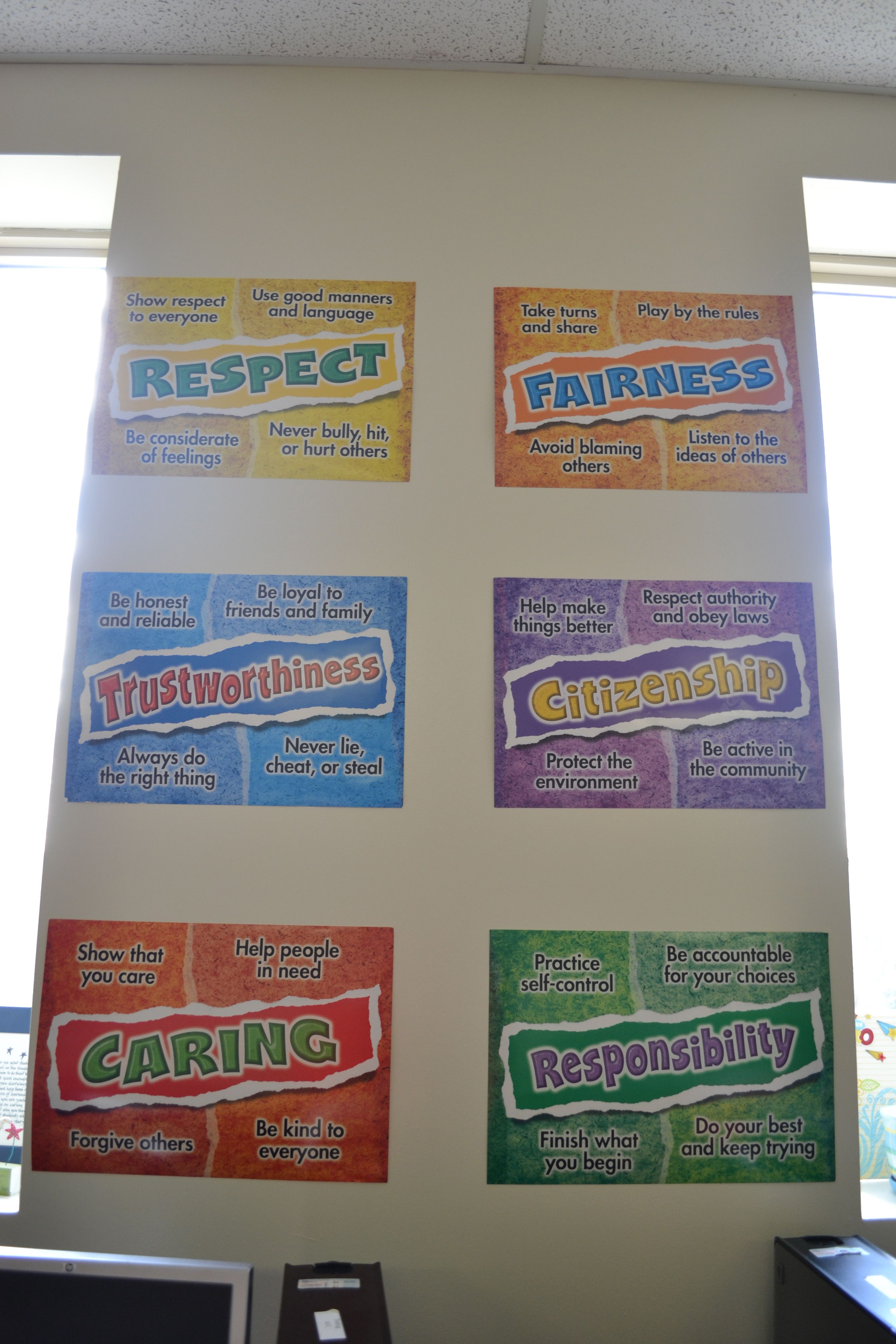 character education is an important part of our curriculum
