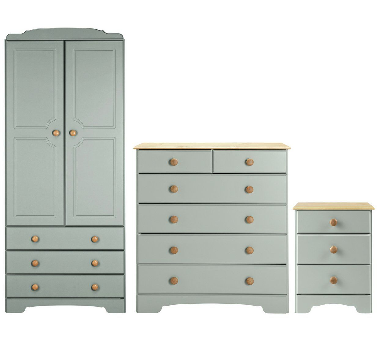 Buy Argos Home Nordic 5 Piece Package - Grey  Bedroom furniture
