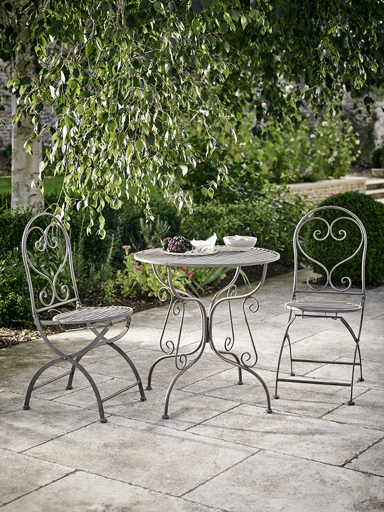 Elegant Metal Bistro Set Taupe Outdoor Patio Furniture Sets Luxury Garden Furniture Bistro Set