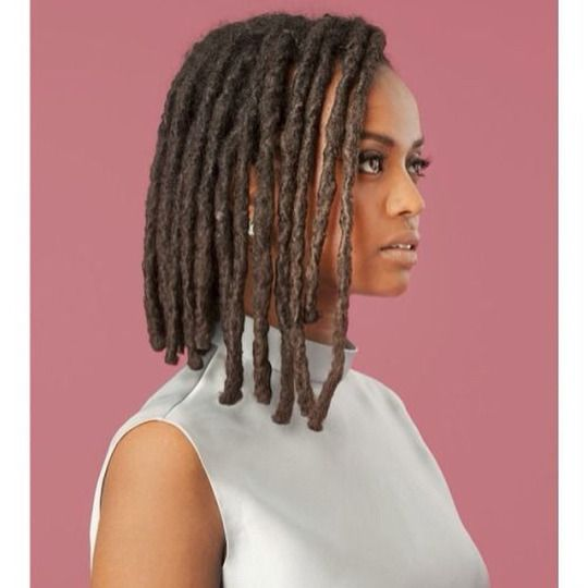 Natural Herstory Yes To This Loc D Asymmetrical Bob Hair Styles Locs Hairstyles Natural Hair Styles