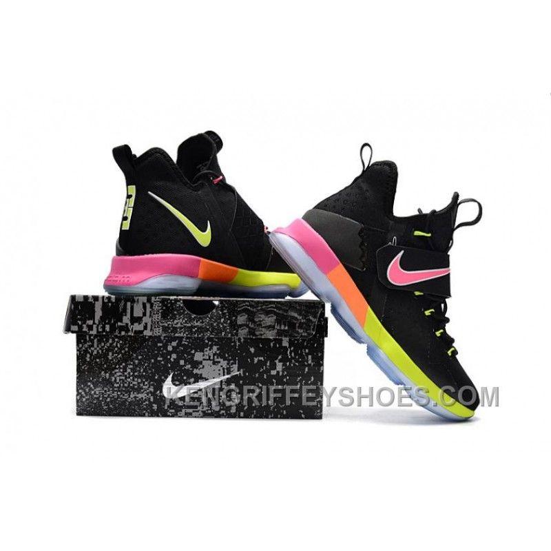 f9671905257 Nike LeBron 14 SBR Black Rainbow Multi Color Authentic