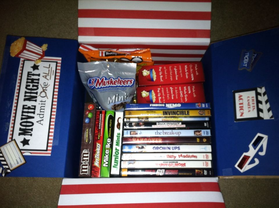 January Movie Night care package other Pinterest Gift