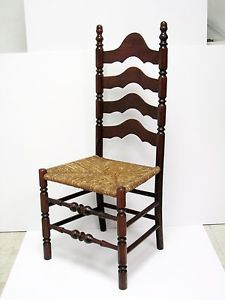 Antique Ladder Back Chair - 1900 -1910 - 4 Slats - Solid Maple - Gardener MA | eBay & Antique Ladder Back Chair - 1900 -1910 - 4 Slats - Solid Maple ...