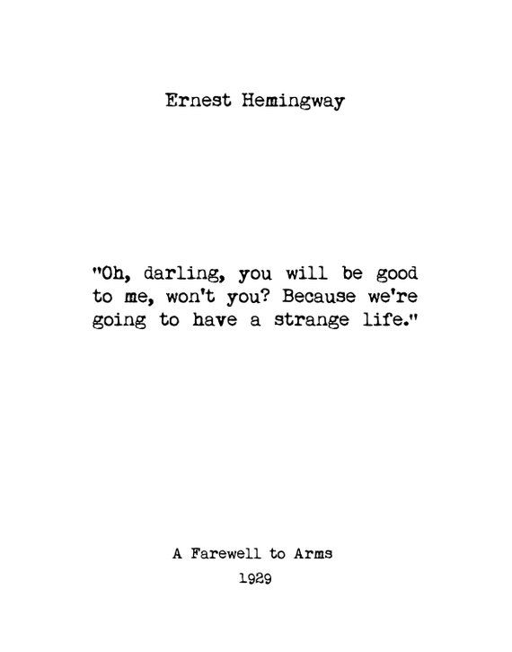 ernest hemingway wall art book quotes home decor book lover