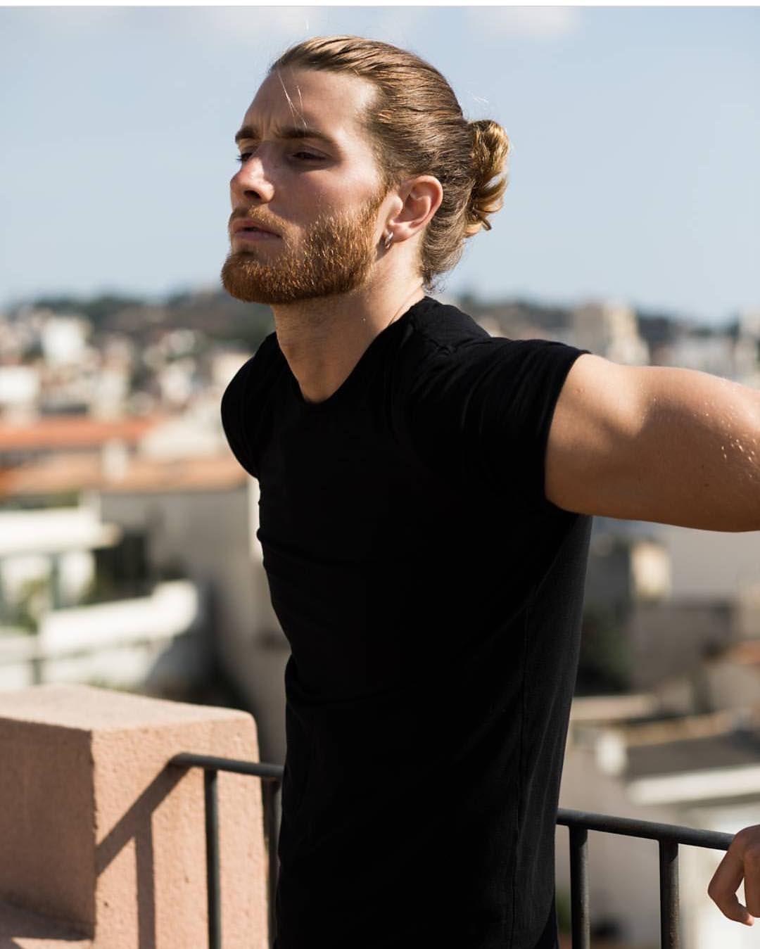 Ways to Stimulate Hair Growth Naturally  Man bun Long hair man and