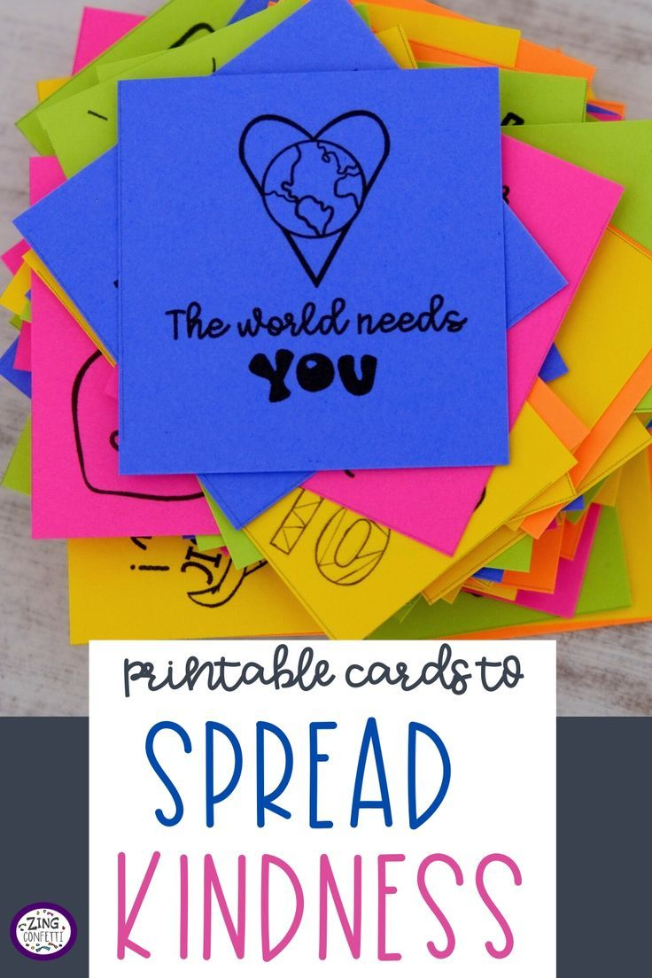 Over 300 Kindness Confetti Cards for Spreading Inspiration and Kindness