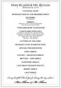 Elegant Wedding Ceremony Program Wedding Signage Reception Etsy Wedding Ceremony Programs Wedding Ceremony Program Order Of Wedding Ceremony