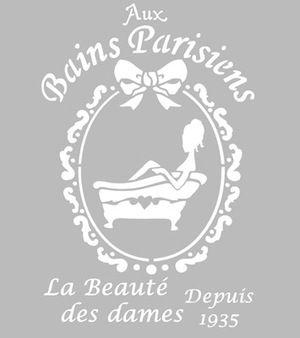 Pochoir Adhésif 28 X 20 Cm Bains Parisiens Pochoir