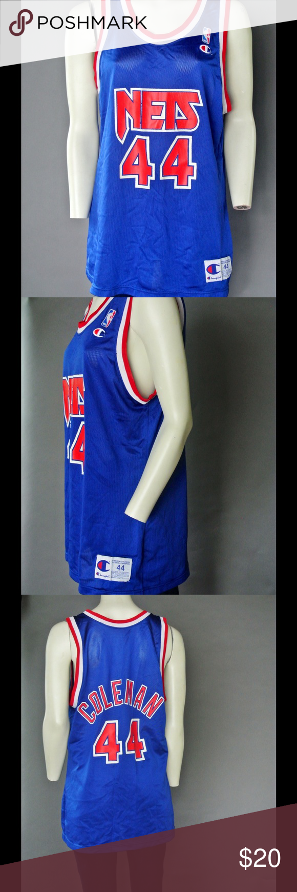 Nets 44 mesh basketball tank! Nets 44 mesh basketball tank for all those sports fans out there! Champion Tops Tank Tops