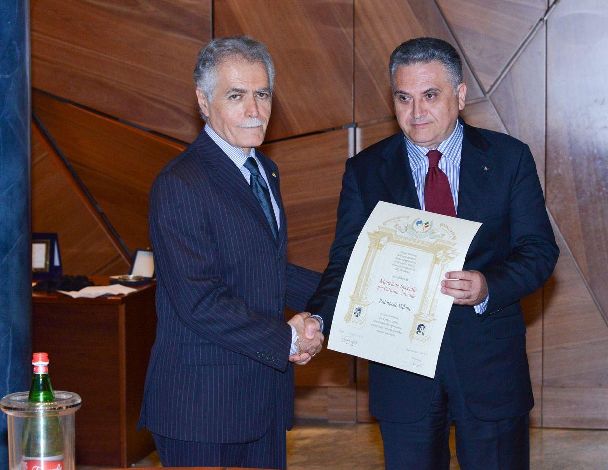 Conferimento al prof cav raimondo villano della for Presidente camera dei deputati 2013
