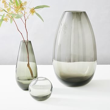 Foundations Glass Vases – Smoke Young Room