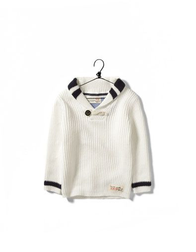 Shawl Collar Sweater Baby Boy Sweater Toddler Sweater