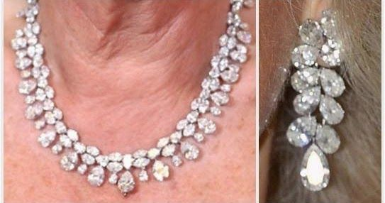 The Duchess of Cornwall's Pear Drop Diamond Demi-Parure    Among the signature pieces in the collection of The Duchess of Cornwall is thi...