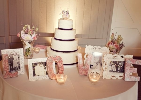 Decorate The Cake Table With Engagement Photos Candles Flowers Etc Wedding Cake Table Wedding Cake Table Decorations Cake Table Decorations