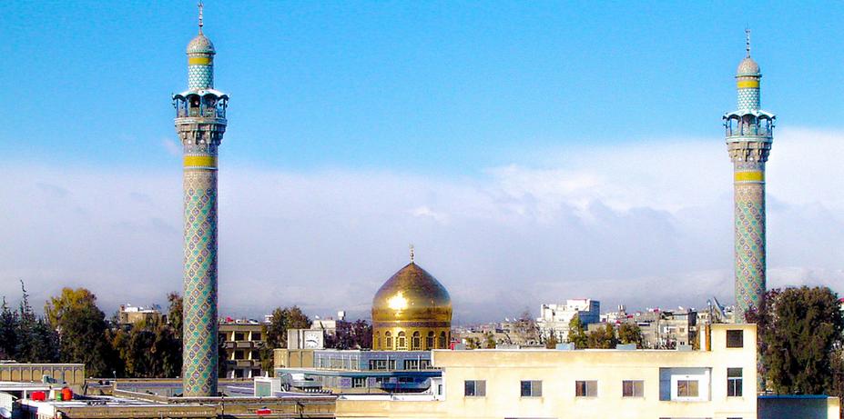 Sayeda Zeinab Shrine Syria Damascus مرقد السيدة زينب سوريا دمشق Masjid Mosque Cn Tower