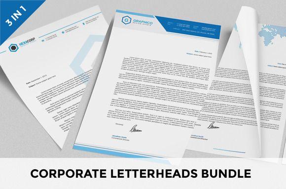 Corporate Letterheads Bundle Vol By Nazdrag On Creative Market