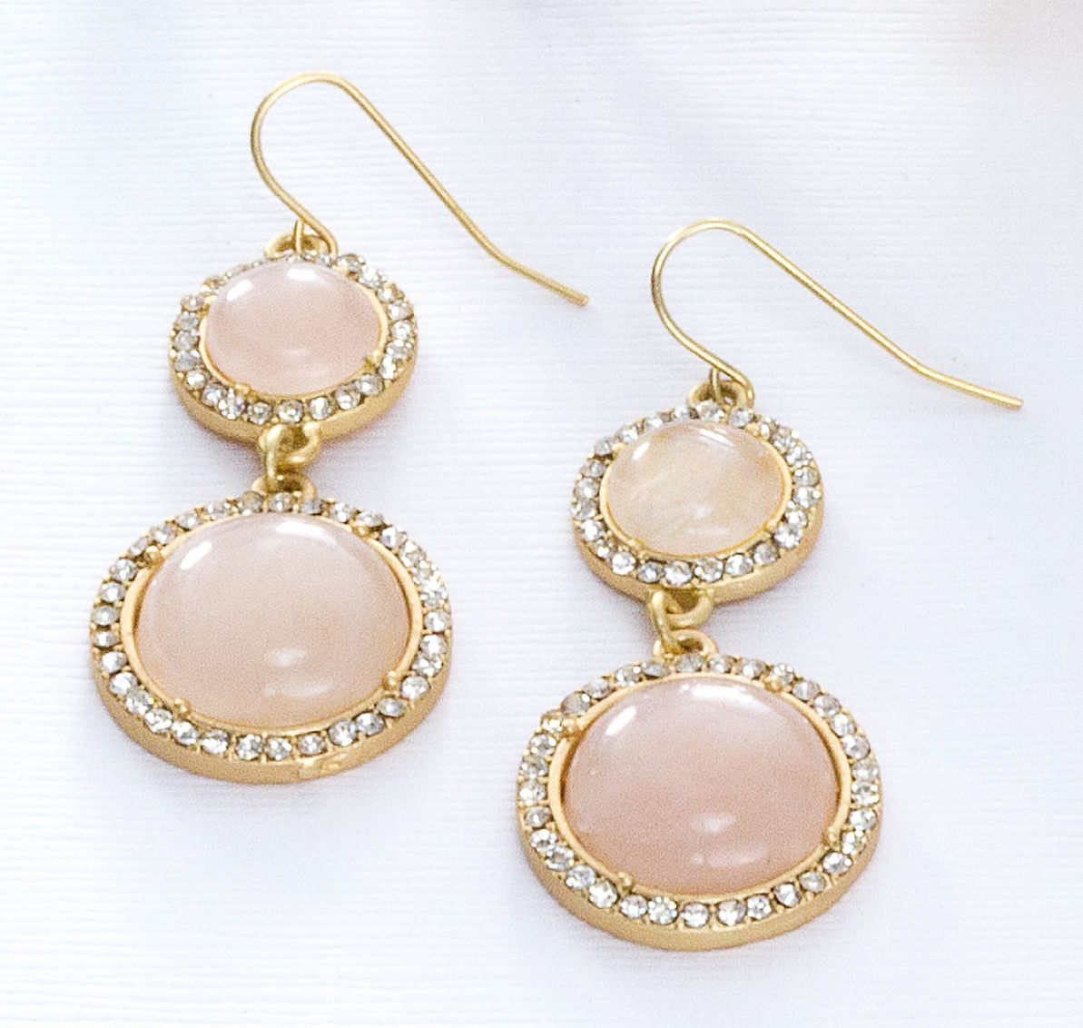 The elegant neutral earrings with taupe stones and surrounding crystals are more formal and perfect for an event like a wedding. Guy & Eva's Rhonda earrings, $44.