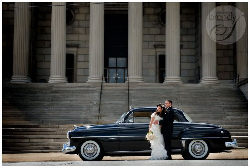 brandy j photography: lisa and david's vintage wedding | youngstown, oh wedding photography