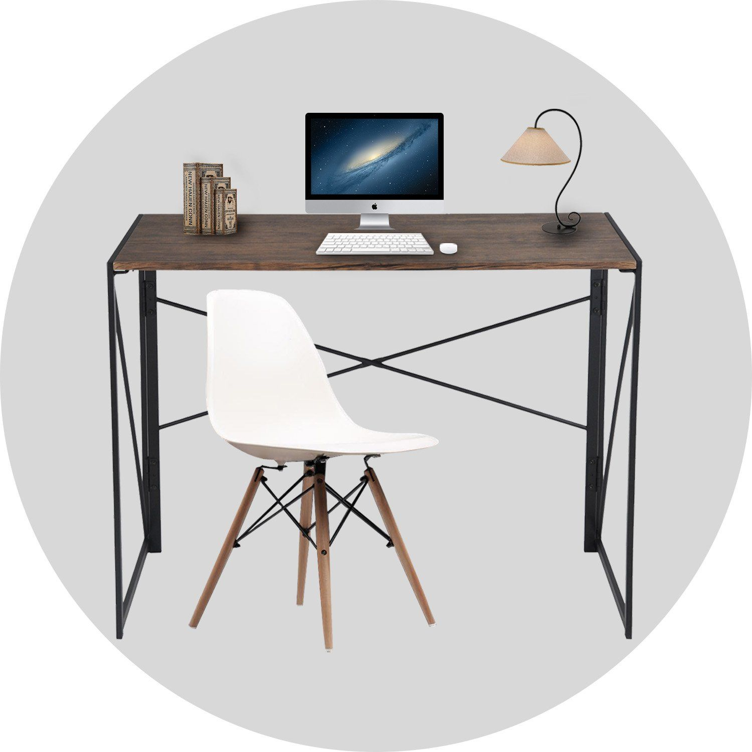 Writing Computer Desk Modern Simple Study Desk Industrial Style Folding Laptop Table For Home Offi Modern Computer Desk Simple Study Desk Industrial Style Desk