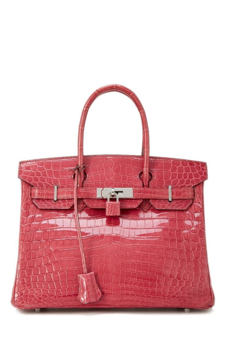 7d29d51e10 What Goes Around Comes Around Fuchsia Pink Niloticus Crocodile Lisse Birkin  30Cm - Hermès