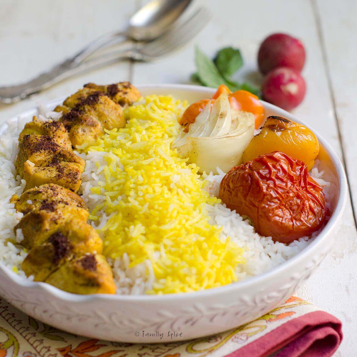 Persian Chicken Kabob (Kabob-eh Morgh) - Family Spice