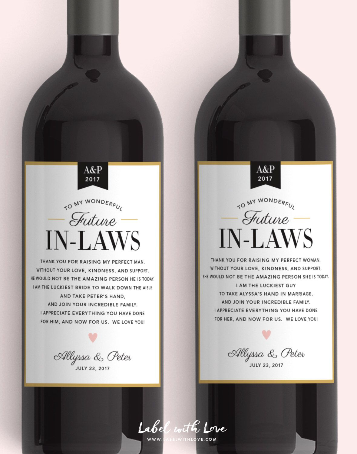 Lovely Far Law Pinterest Gifts Far Bride In Law Wine Labels Wedding Thank You Gift Parents Gifts Law Uk Bride Groom Law Wine Labels Wedding Thank You Gift Parents gifts Gifts For Father In Law