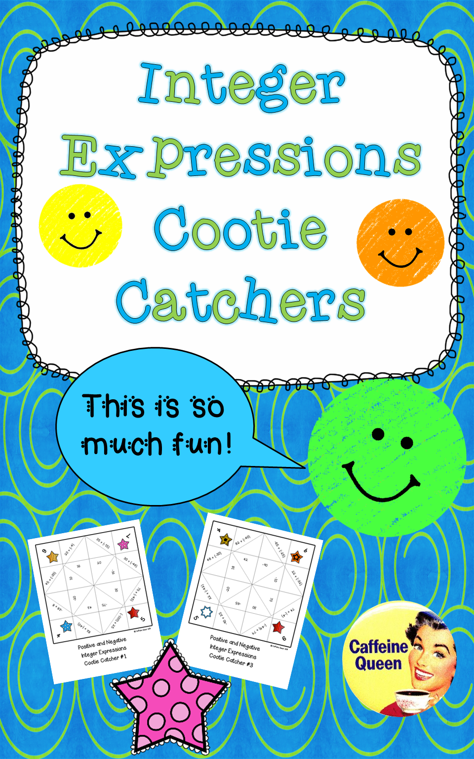 Adding and Subtracting Integers Cootie Catchers - No Prep ...