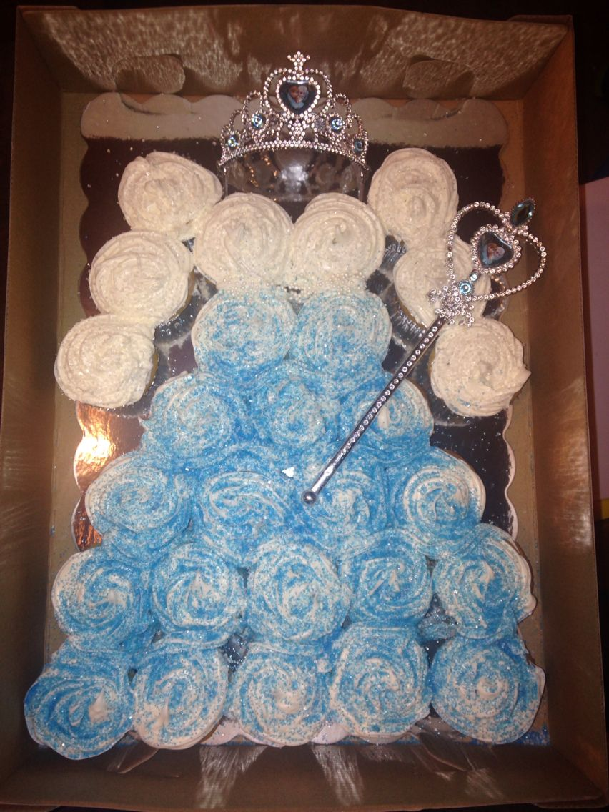 Frozen Elsa Princess Dress Cupcake Cake Charlees 4th Birthday