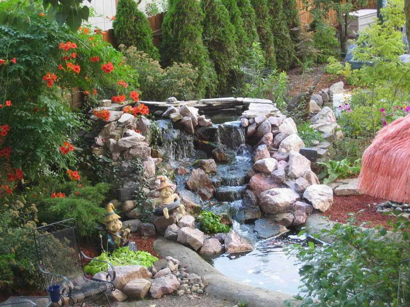 Preformed Pond Liners With Fir Tree