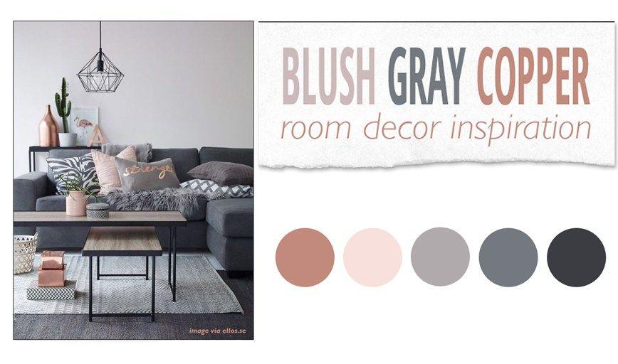Blush gray copper room decor inspiration the pixel odyssey