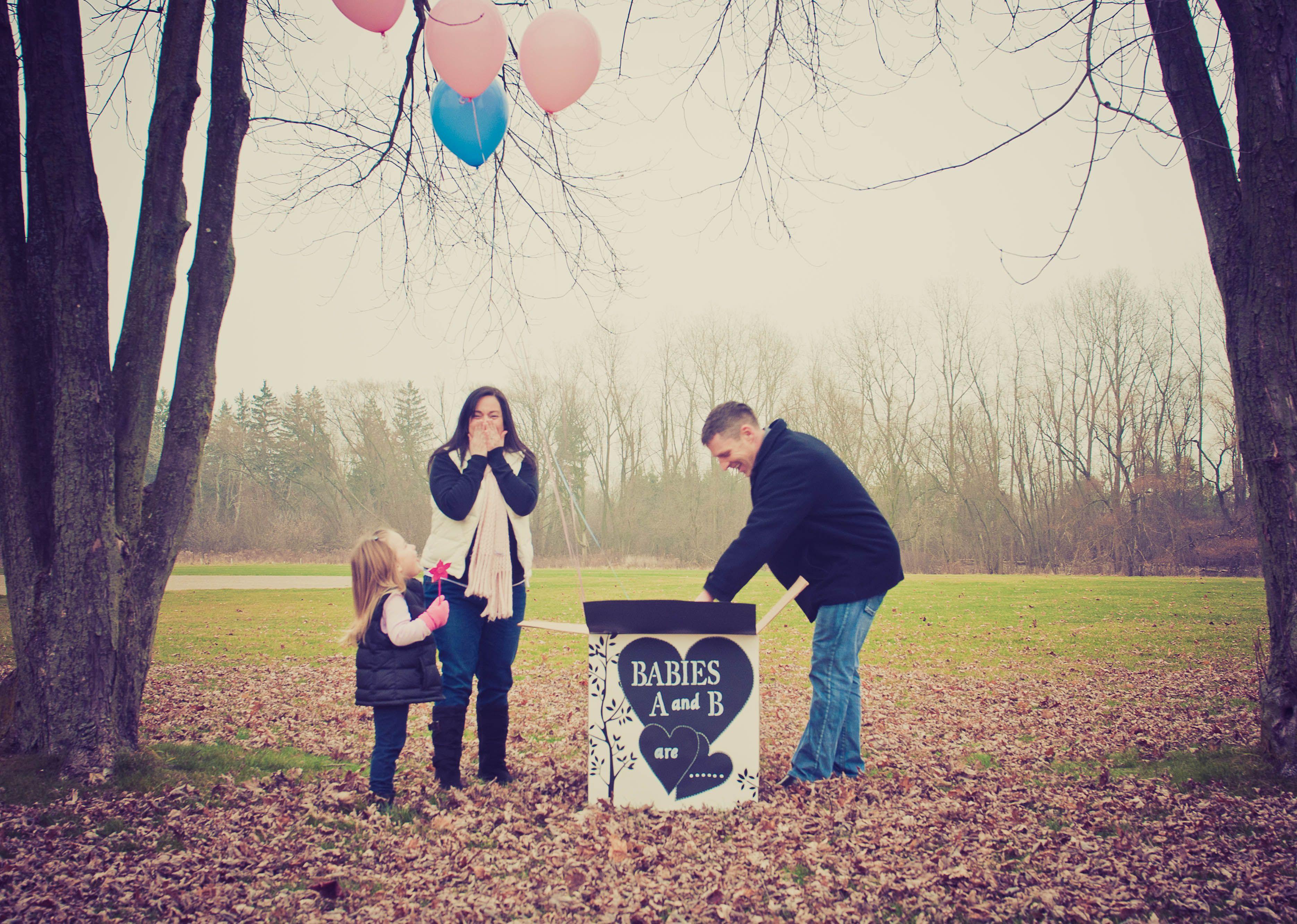 Twins Gender Reveal Balloon Box