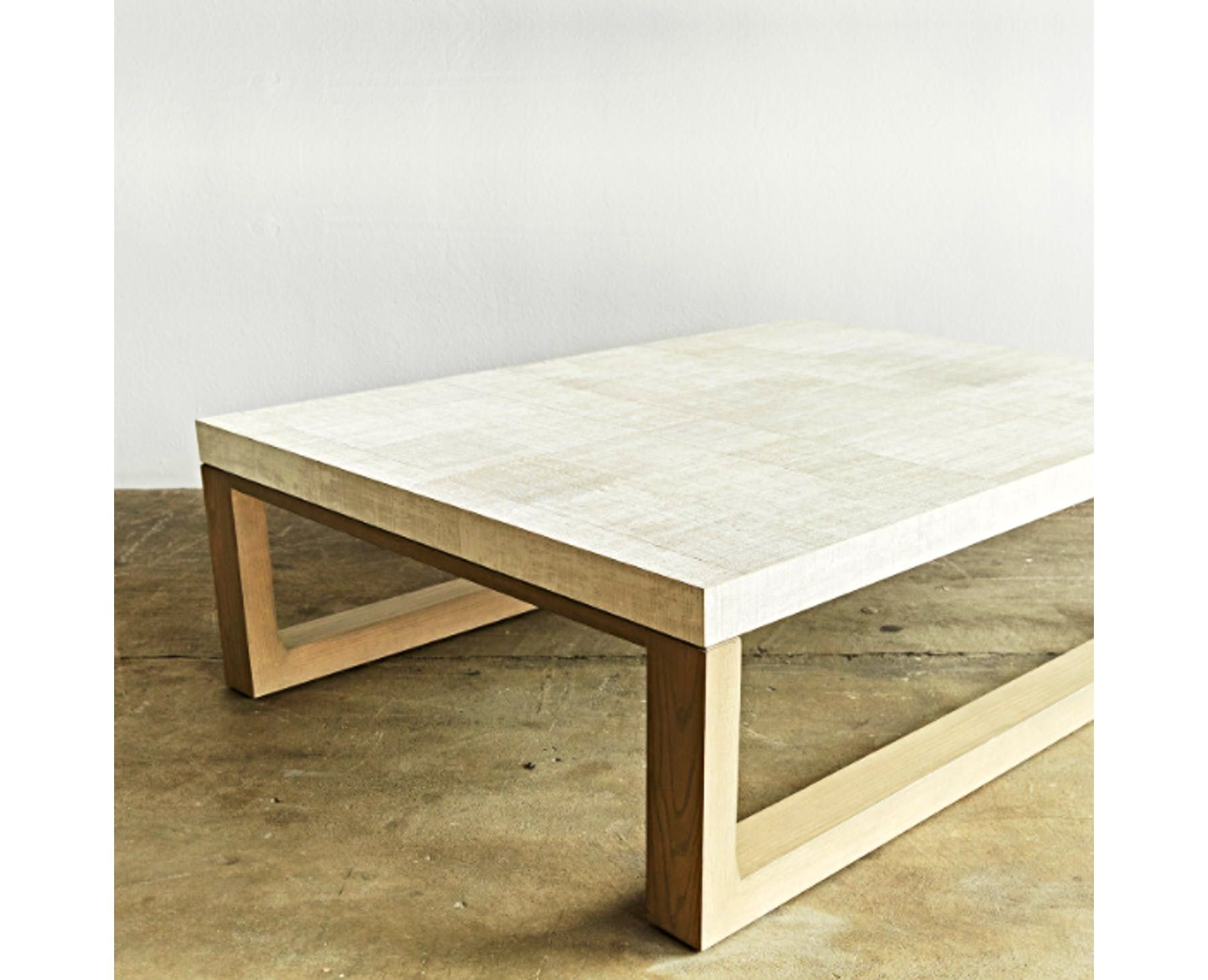 "Size 54""W x 42""D x 16 5""H This two tone coffee table features a"