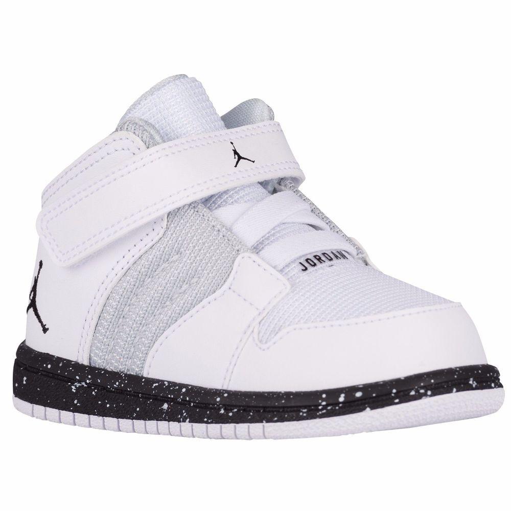 826b4a85e86 NIKE JORDAN 1 Trainers Boys Toddler Sneakers Shoes White Hi Top 9 C 828244  100 #Jordan #Athletic