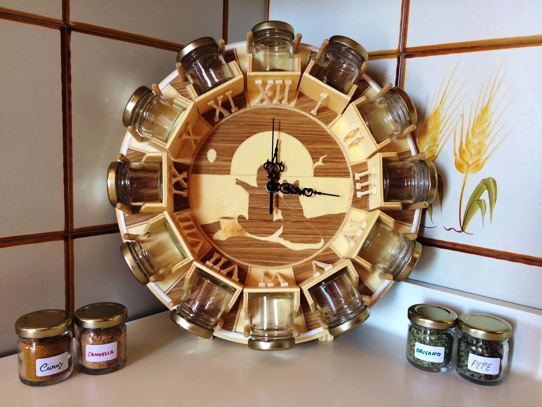Wooden spice rack spice jars wood spice rack wood wall - Portaspezie da parete ...