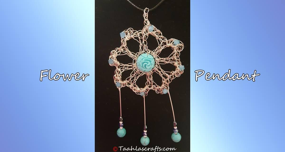 Flower Pendant   crochet jewelry   Pinterest