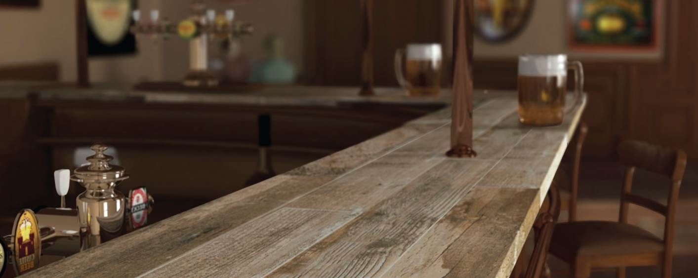 Bar Top That S Right Wood Porcelain Planks On A Counter