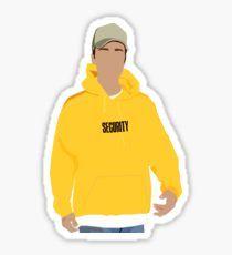 Justin Bieber Security Hoodie Pegatina