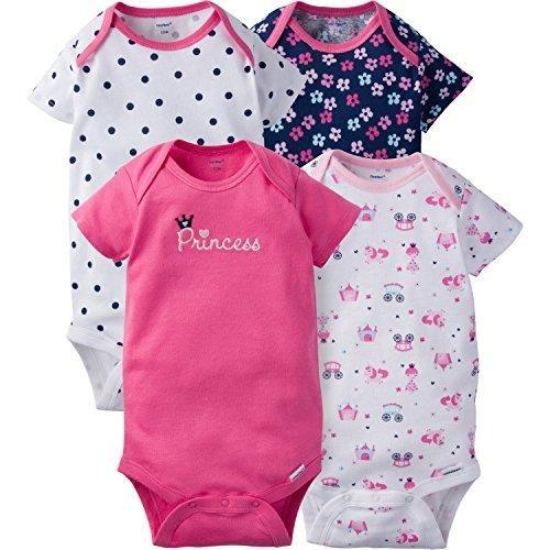 30b75d18ea Gerber Baby Girls 4 Pack Onesies