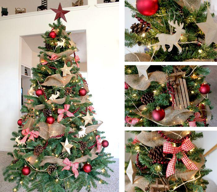 Puoskite Eglute Ne Tik Tradiciniais Burbulais Bet Ir Kaspinėliais įvairių Formų Zais Country Christmas Trees Rustic Christmas Tree Christmas Tree Decorations