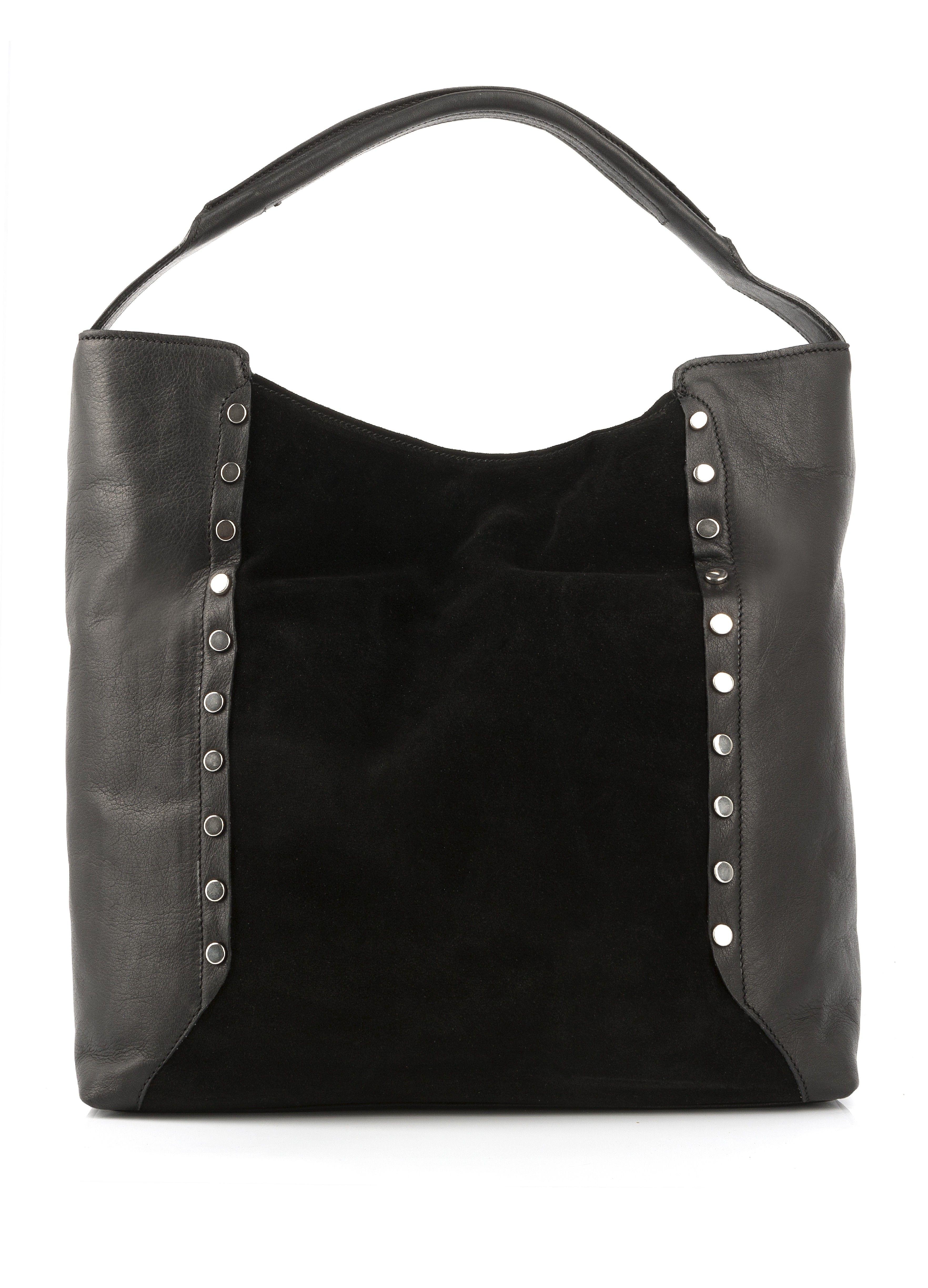 5d861d921f12 Sac cabas en cuir VOTINE noir - Sac et Pochette - Accessoires Soldes -  SOLDES