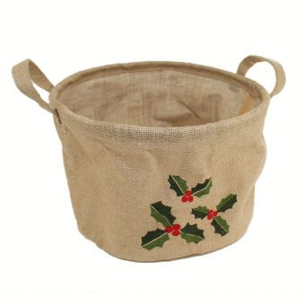 Hobbycraft Jute Basket Holly Brown