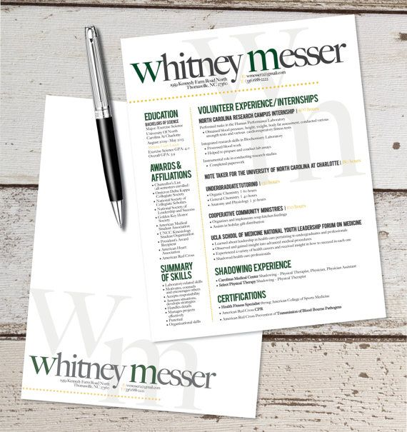 the katie lyn signature resume template  u0026 letterhead design combo - graphic design