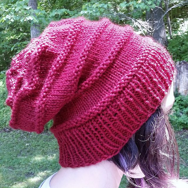 c94bc9149f8 The Perfect Knit Slouch Hat pattern by Carrissa Knox........super easy knit  purl pattern
