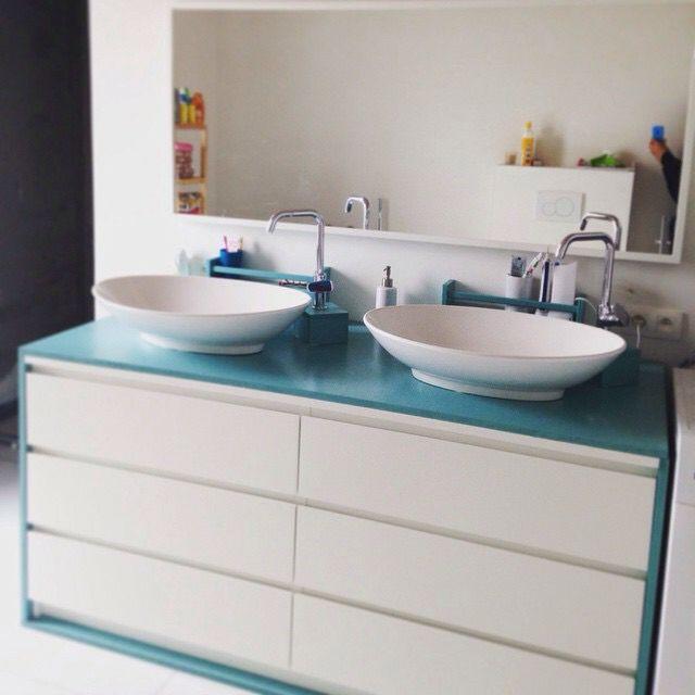 Ikeahack! Malm dresser converted into bathroom sink Biscuits - küchenrückwand ikea erfahrungen