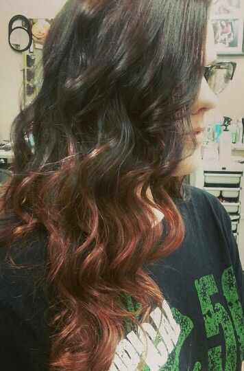 Copper Ombre / Long hair / waves