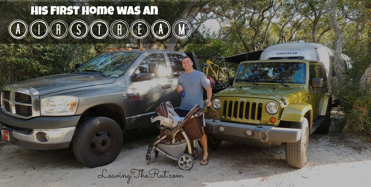 His first home was an Airstream http://leavingtherut.com/his-first-home-was-an-airstream/ Living on the road while pregnant would not have been my first choice but you work what circumstances you are handed... www.leavingtherut.com