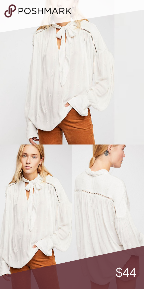 f5889f53a8a7f6 NWT Free People Wishful Moments Blouse Brand new with tag Lightweight and  semi-sheer crinkly